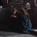 Padmé comforts Anakin.